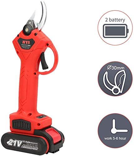 Sécateur électrique, outil de taille sans fil pour sécateur de batterie au lithium de coupeur de branche électrique 21V(2...