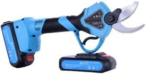 KOMOK Sécateur Professionnel électrique sans Fil, 2 Batteries Rechargeables au Lithium 2 Ah, diamètre de Coupe 30 mm,